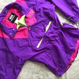 VTG 90s Helly Hansen Neon Windbreaker Ski Jacket